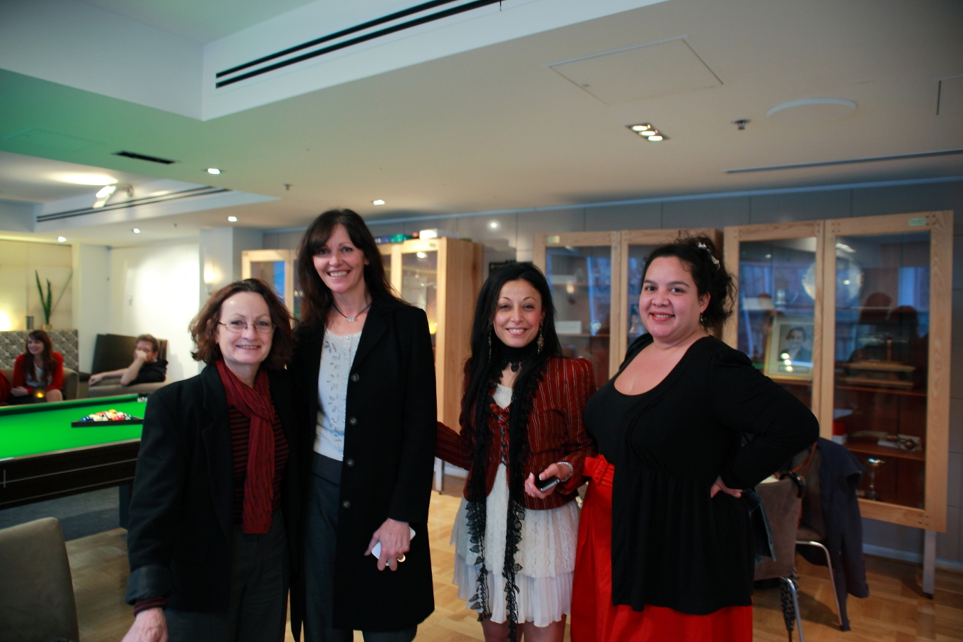 Glenys Oogjes of Animals Australia; Debra Tranter of Oscar's Law; Shatha Hamade; and Hayley Barker