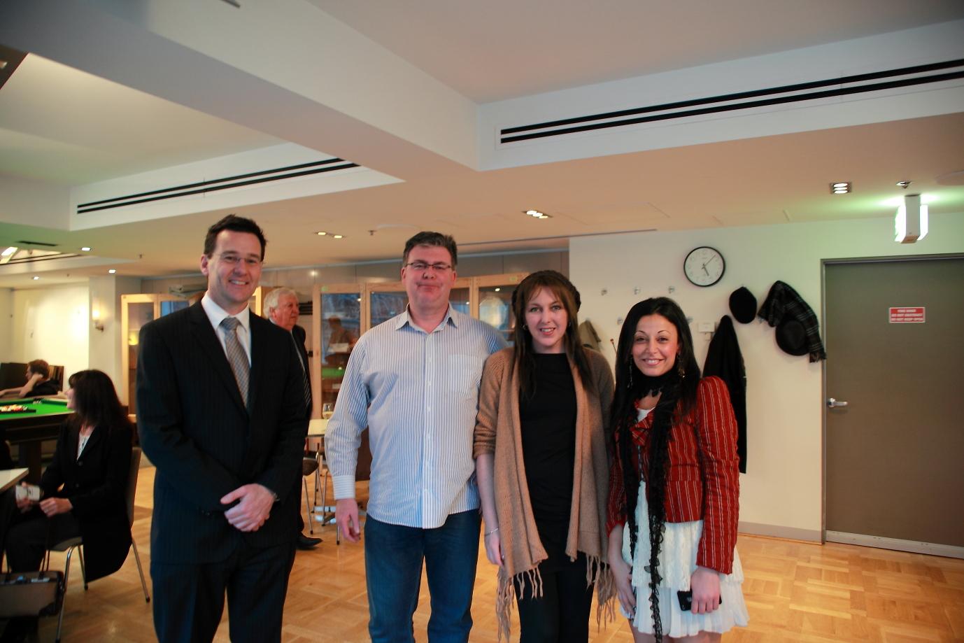 Paul Crossley; Miles O'Connor; Helen Marston of Humane Research Australia; Shatha Hamade